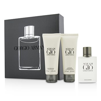 Giorgio Armani Acqua Di Gio Coffret: Eau De Toilette Spray 50ml/1.7oz + All Over Body Shampoo 75ml/2.5oz + After Shave Balm 75ml/2.5oz  3pcs