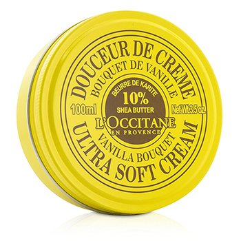 L'Occitane Shea Butter Ultra Soft Cream - Vanilla Bouquet  100ml/3.5oz