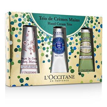 L'Occitane Hand Trio Collection: Cherry Blossom + Shea Butter + Almond Hand Cream  3pcs