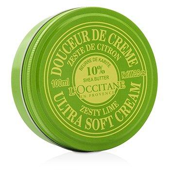 L'Occitane Shea Butter 10% Ultra Soft Cream - Zesty Lime  100ml/3.5oz