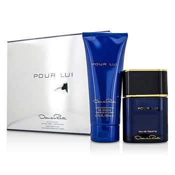 Oscar De La Renta Pour Lui Coffret: Eau De Toilette Spray 90ml/3oz + Hair & Body Wash 200ml/6.7oz (Box Slightly Damaged)  2pcs