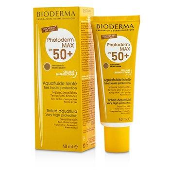 Bioderma Photoderm Max Very High Protection Tinted Aquafluid SPF50+ (Teinte Doree Golden Colour) - For Sensitive Skin  40ml/1.33oz