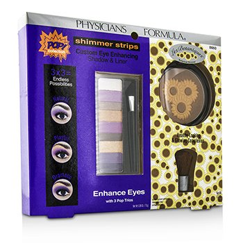 Physicians Formula Makeup Set 8660: 1x Shimmer Strips Eye Enhancing Shadow  1x Bontanical Bronzer  1x Applicator 3pcs
