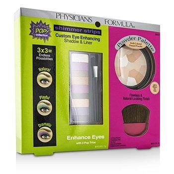 Physicians FormulaMakeup Set 8661: 1x Shimmer Strips Eye Enhancing Shadow, 1x Powder Palette, 1x Applicator 3pcs