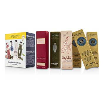 L'Occitane Delightful Hands Kit: 3xShea Butter 30ml + 1xCherry Blossom 30ml + 1xCooling Hand Gel 30ml + 1xRoses Et Reines 30ml  6x30ml/1oz