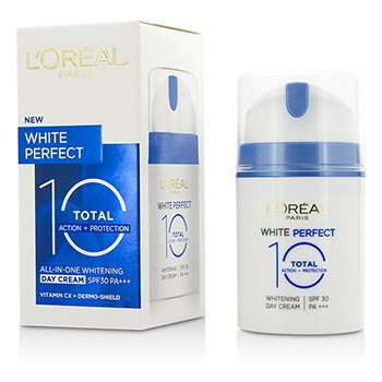 L'Oreal ���� ����� ���� White Perfect Total 10 SPF 30 ���� ����� ������� ����� ��� ������.|���� ������ �� ������� ������� �������� ������.|����� �� ��� ����� �������.| 50ml/1.69oz