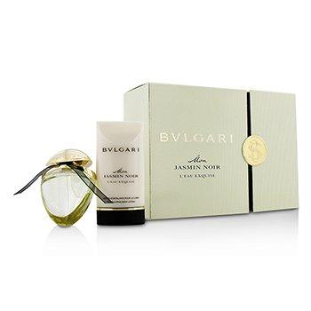 Bvlgari Mon Jasmin Noir L' Eau Exquise Coffret: Eau De Parfum Spray 25ml/0.84oz + Body Lotion 75ml/2.5oz  2pcs