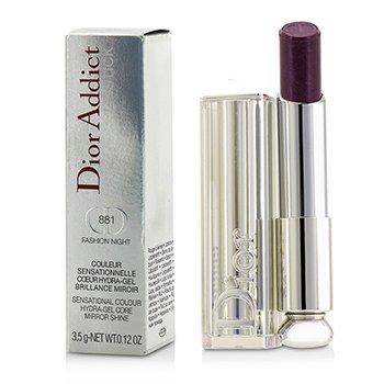 Dior Addict Hydra Gel Core Mirror Shine Lipstick #881 Fashion Night Christian Dior Dior Addict Hydra Gel Core Mirror Shine Lipstick #881 Fashion Night 3.5g/
