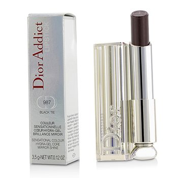 Christian Dior Dior Addict Hydra Gel Core Mirror Shine Lipstick #987 Black Tie 3.5g/0.12oz