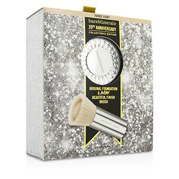 Bare Escentuals BareMinerals 20th Anniversary Collector's Edition: Original Foundation + Finish Brush – # Fairly Light 2pcs