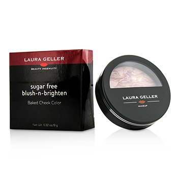 Laura Geller Sugar Free Blush N Brighten Baked Cheek Color – # Raspberry 9g/0.32oz