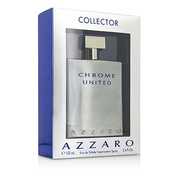 AzzaroChrome United Eau De Toilette Spray (Collector Edition) 100ml/3.4oz