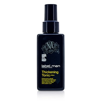Label.M Men's Thickening Tonic (Unique Gel to Liquid Formula Builds Thickness and Definition For Big Matt Styles with Firm Hold)