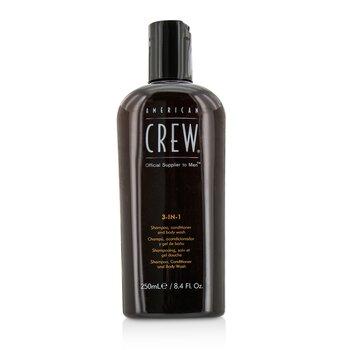 American Crew Men Classic 3-IN-1 Shampoo, Conditioner & Body Wash  250ml/8.4oz