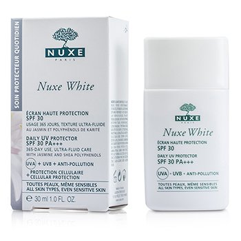 NuxeNuxe White Daily UV Protector SPF 30 - For All Skin Types & Sensitive Skin (Exp. Date 07/2016) 30ml/1oz