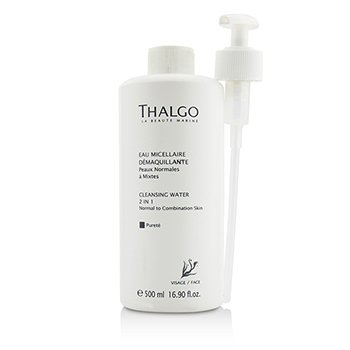 ThalgoCleansing Water 2-in-1 - With Pump - Salon Size 500ml/16.9oz