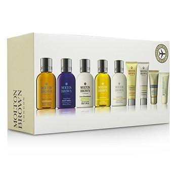 Molton Brown Refresh & Rejuvenate Travel Collection: Body Wash+Body Lotion+Shampoo+Conditioner+Hand Cream+Lipsaver+Eye Concentrate  9pcs