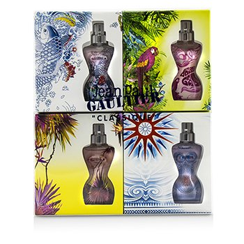 Jean Paul Gaultier Classique Miniature Coffret (Summer Editions)  4x3.5ml/0.11oz