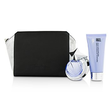 Thierry Mugler Angel The Magic Mugler Coffret: Eau De Toilette Refillable Spray 40ml/1.4oz + Body Lotion 100ml/3.5oz + Pouch  2pcs
