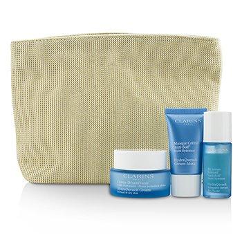 ClarinsMoisture Must-Haves Set: HydraQuench Cream 50ml + Serum 15ml + Cream Mask 15ml + Bag 3pcs+1bag
