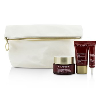 ClarinsSkin Replenishers Set: Super Restorative Day Cream 50ml + Night Cream 15ml + Eye Concentrate 7ml + Bag 3pcs+1bag