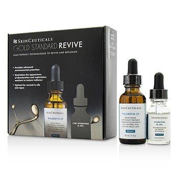 Skin Ceuticals Gold Standard Revive Set: Phloretin CF 30ml/1oz + Hydrating B5 Gel 15ml/0.5oz  2pcs