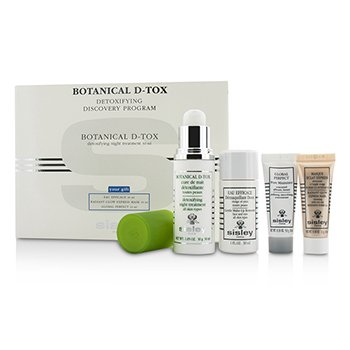 SisleyBotanical D Tox Detoxifying Discovery Program Botanical D Tox 30ml Make Up Remover 30ml Mask 10ml Pore Minimizer 10ml 4pcs