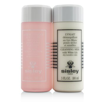 Sisley Cleansing Duo Travel Selection Set: Cleansing Milk w/ White Lily 100ml/3oz + Floral Toning Lotion 100ml/3oz  2pcs