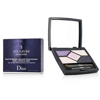 Christian Dior 5 Couleurs Designer All In One Professional Eye Palette – # 808 Purple Design 5.7g/0.2oz