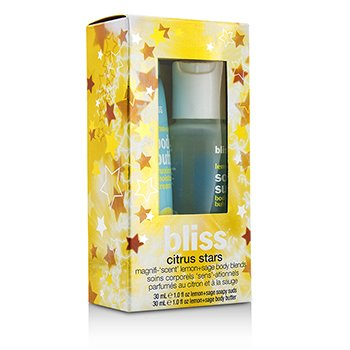 BlissCitrus Stars Set: Lemon+Sage Soapy Suds 30ml + Lemon+Sage Body Butter 30ml 2pcs