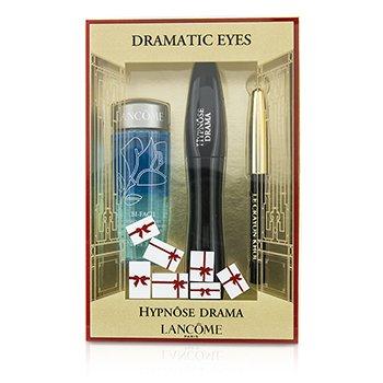 Lancome Hypnose Dramatic Eyes Kit: 1x Hypnose Drama Mascara 6.5ml/0.23oz + 1x Mini Le Crayon Khol 0.7g/0.02oz + 1x Bi Facil 30ml/1oz  3pcs