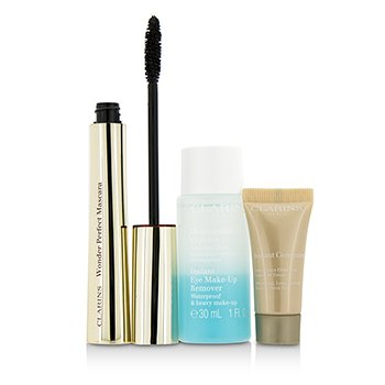 Clarins Eye Opening Beauty Set: 1x Wonder Perfect Mascara 1x Mini Instant Eye Make Up Remover 1x Mini Instant Concealer 3pcs