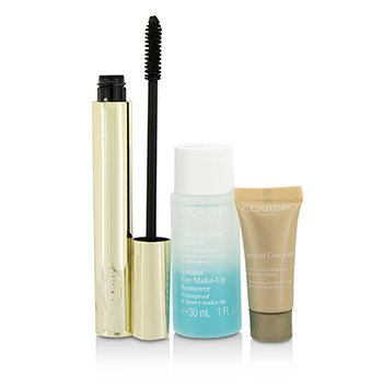 Clarins  Pump Up The Volume Set: 1x Wonder Volume Mascara, 1x Mini Instant Eye Make Up Remover, 1x Mini Instant Concealer  3pcs