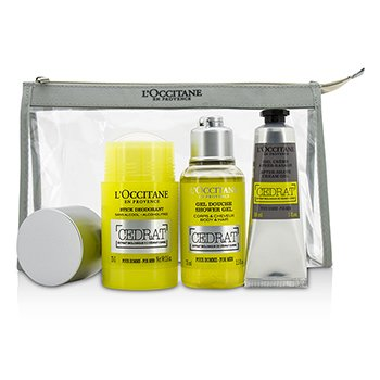 L'OccitaneCedrat Energizing Kit: Deodorant Stick 75g/2.5oz + Shower Gel 75ml/2.5oz + After Shave Cream Gel 30ml/1oz 3pcs