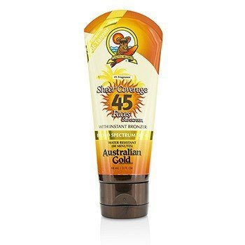 Australian Gold Sheer Coverage Faces Sunscreen SPF 45 With Instant Bronzer 88ml/3oz