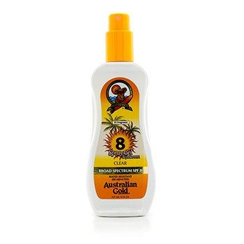 Australian Gold Spray Gel Sunscreen Broad Spectrum SPF 8 237ml/8oz