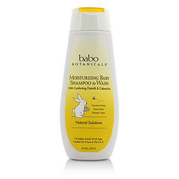 Babo Botanicals Moisturizing Baby Shampoo & Wash (For Sensitive & Dry Scalp & Skin) 237ml/8oz