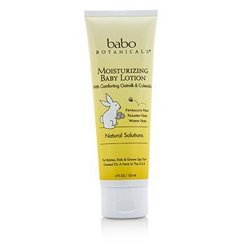 Babo Botanicals Moisturizing Baby Lotion with Comforting Oatmilk & Calendula - For Sensitive & Dry Skin 125ml/4oz