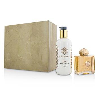 Amouage Dia Coffret: Eau De Parfum Spray 100ml/3.4oz + Body Lotion 300ml/10oz  2pcs