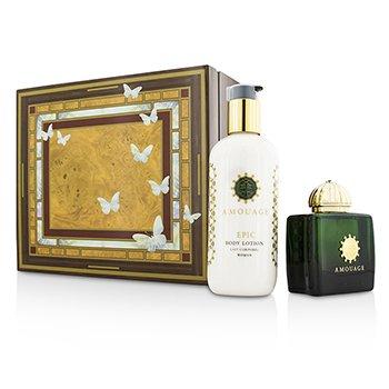 Amouage Epic Coffret: Eau De Parfum Spray 100ml/3.4oz + Body Lotion 300ml/10oz  2pcs