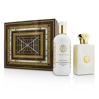 AmouageHonour Coffret Eau De Parfum Spray 100ml 3.4oz Bath Shower Gel 300ml 10oz 2pcs