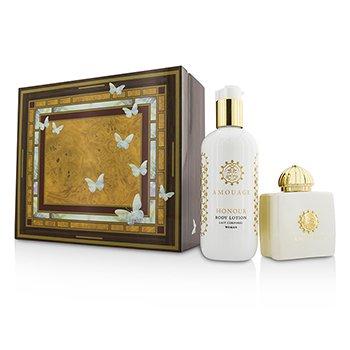 Amouage Honour Coffret: Eau De Parfum Spray 100ml/3.4oz + Body Lotion 300ml/10oz  2pcs