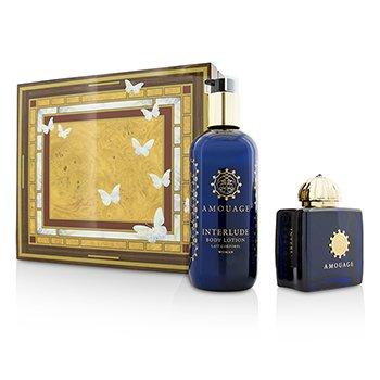 Amouage Interlude Coffret: Eau De Parfum Spray 100ml/3.4oz + Body Lotion 300ml/10oz  2pcs