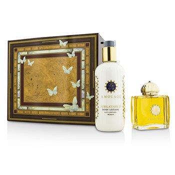 Amouage Jubilation 25 Coffret: Eau De Parfum Spray 100ml/3.4oz + Body Lotion 300ml/10oz  2pcs