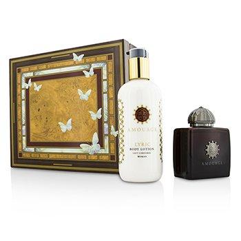 Amouage Lyric Coffret: Eau De Parfum Spray 100ml/3.4oz + Body Lotion 300ml/10oz  2pcs