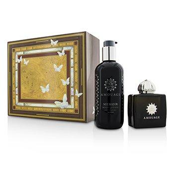 AmouageMemoir Coffret Eau De Parfum Spray 100ml 3.4oz Body Lotion 300ml 10oz 2pcs