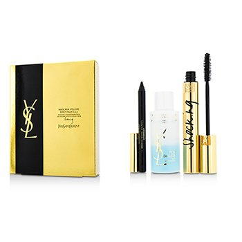 Yves Saint Laurent Mascara Volume Effet Faux Cils Shocking Set: (1x Mascara 6.4ml/0.2oz 1x Waterproof Eye Pencil 0.8g/0.028oz 1x Eye Make Up Remover 30ml/1oz) 3pcs