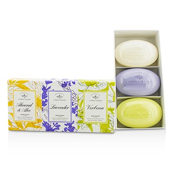 Caswell MasseySignature Soap Set: Almond & Aloe, Lavender, Verbena 3x150g/5.2oz
