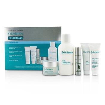 Купить Essentials Набор (для Чувствительной/Сухой Кожи): Очищающий Крем + Комплекс для Глаз + Дневной Крем + Восстанавливающий Крем + Сыворотка с Антиоксидантами 5pcs, Exuviance