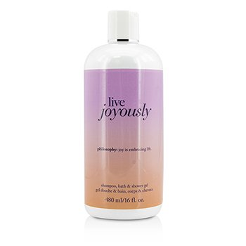 PhilosophyLive Joyously Shampoo, Bath & Shower Gel 480ml/16oz